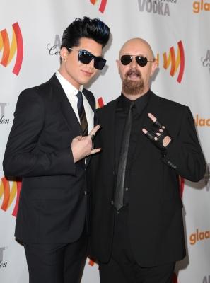 Adam Lambert and Rob Halford